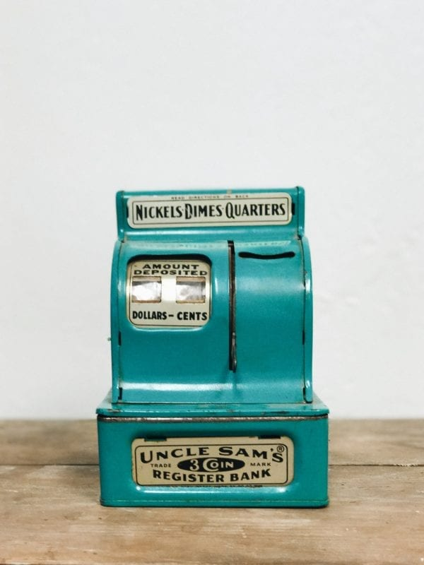 Teal Vintage Register Bank