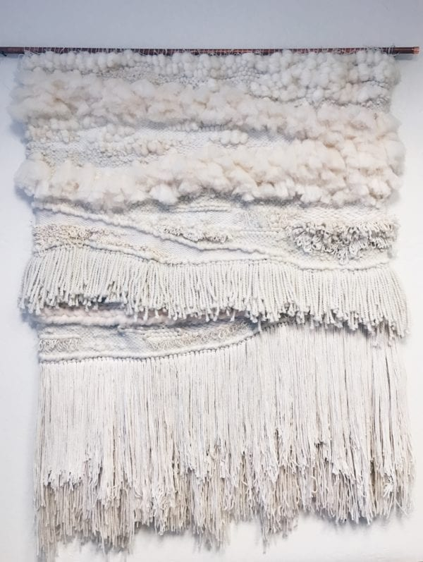 Large Neutral Handmade Woven Tapestry