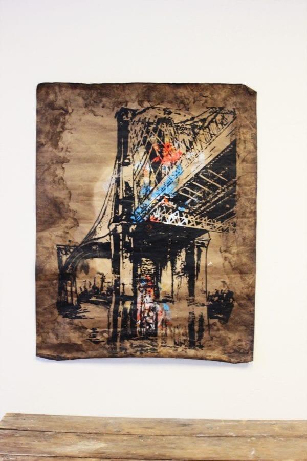 Painting of Brooklyn Bridge