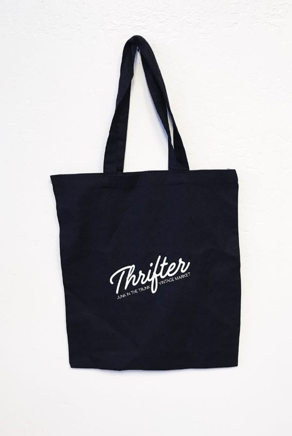 Black Canvas Thrifter Bag