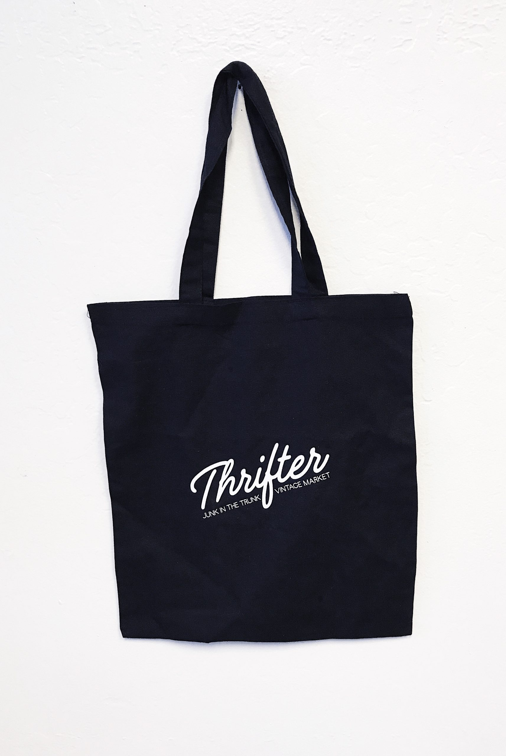 Black Canvas Thrifter Bag – Vintage Market Home