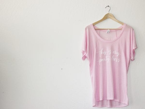 Pink Party Dress Tee