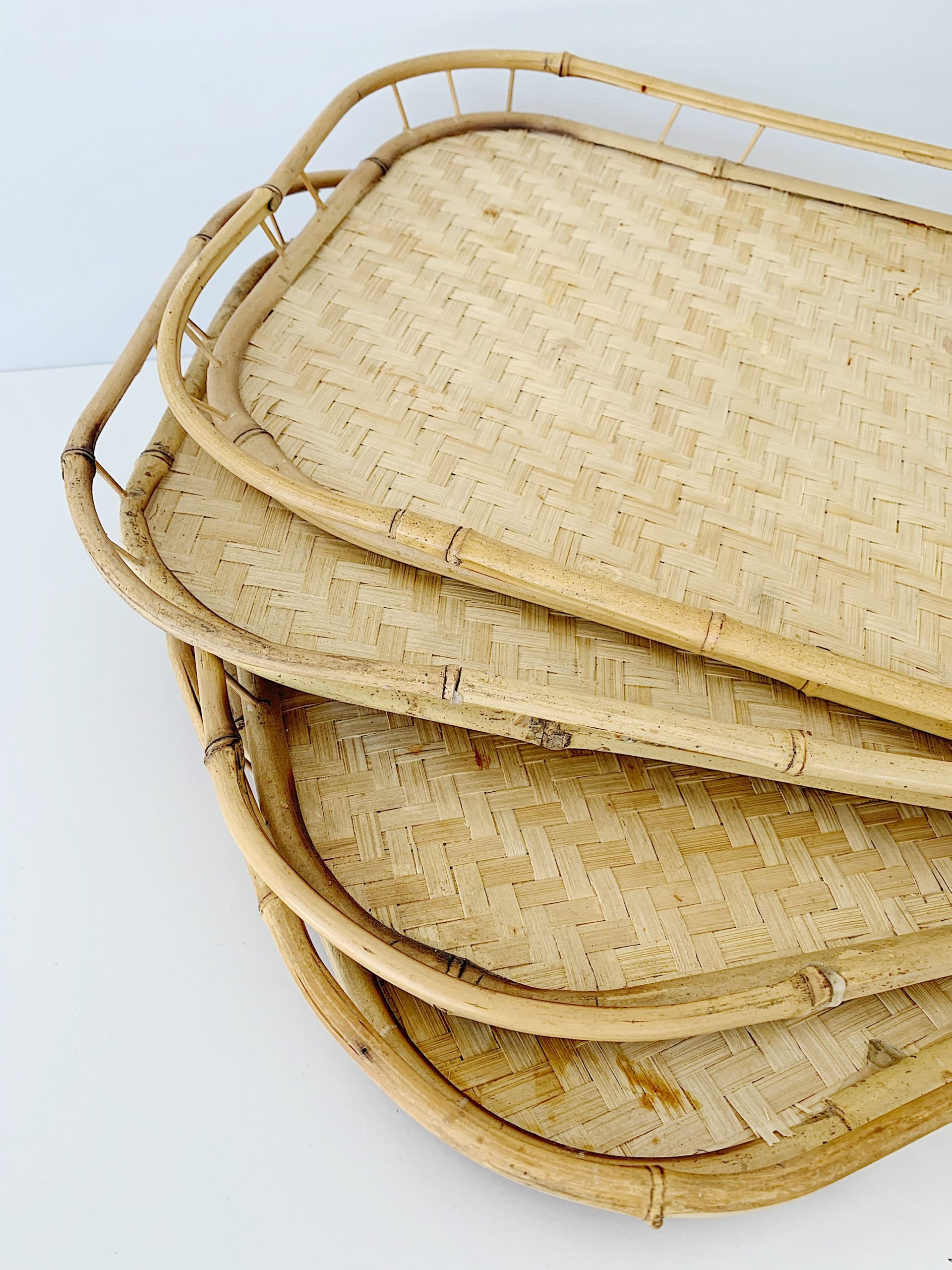 Vintage Bamboo Tray Vintage Market Home